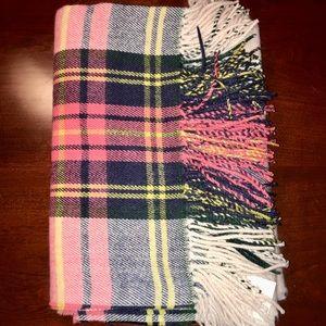 nwt jcrew plaid blanket scarf f7939